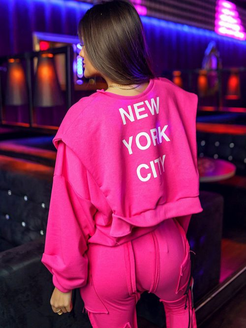 rozowa-bluza-damska-podwojna-z-napisam