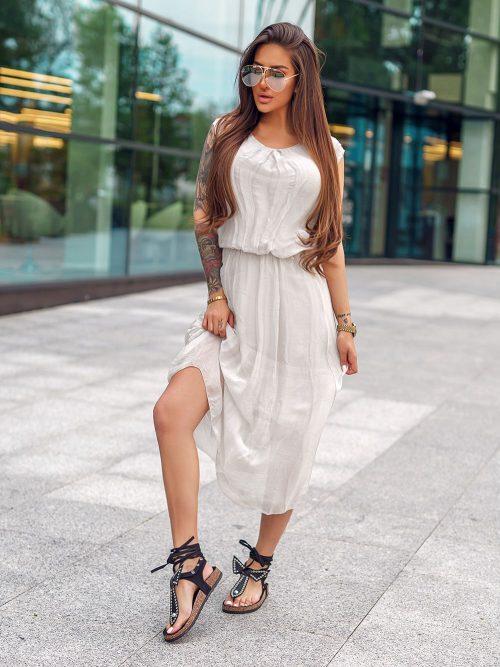 bezowa-satynowa-sukienka-z-rekawkiem-wiazana-w-pasie (3)