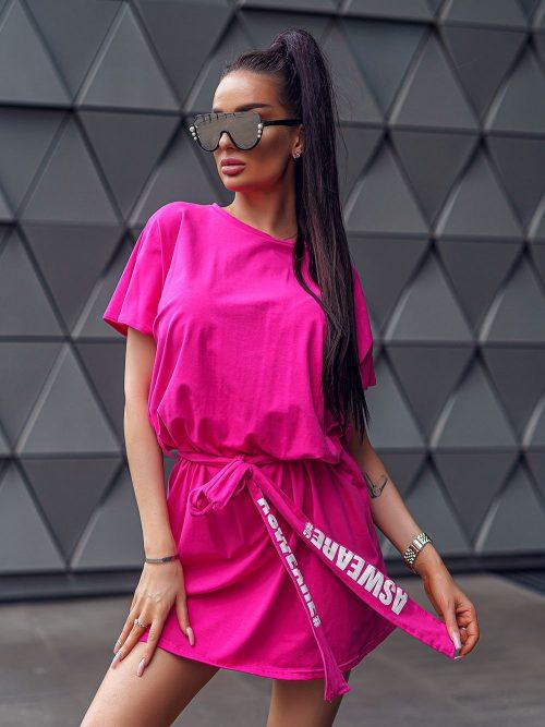 rozowa-sukienka-asweare-wiazana-w-pasie-02
