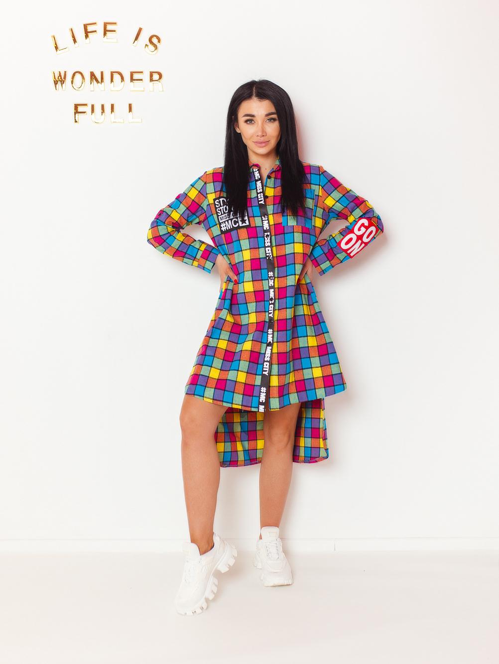 koszula-damska-multicolor-w-krate-z-napisem-sexy-back-#1 (2)