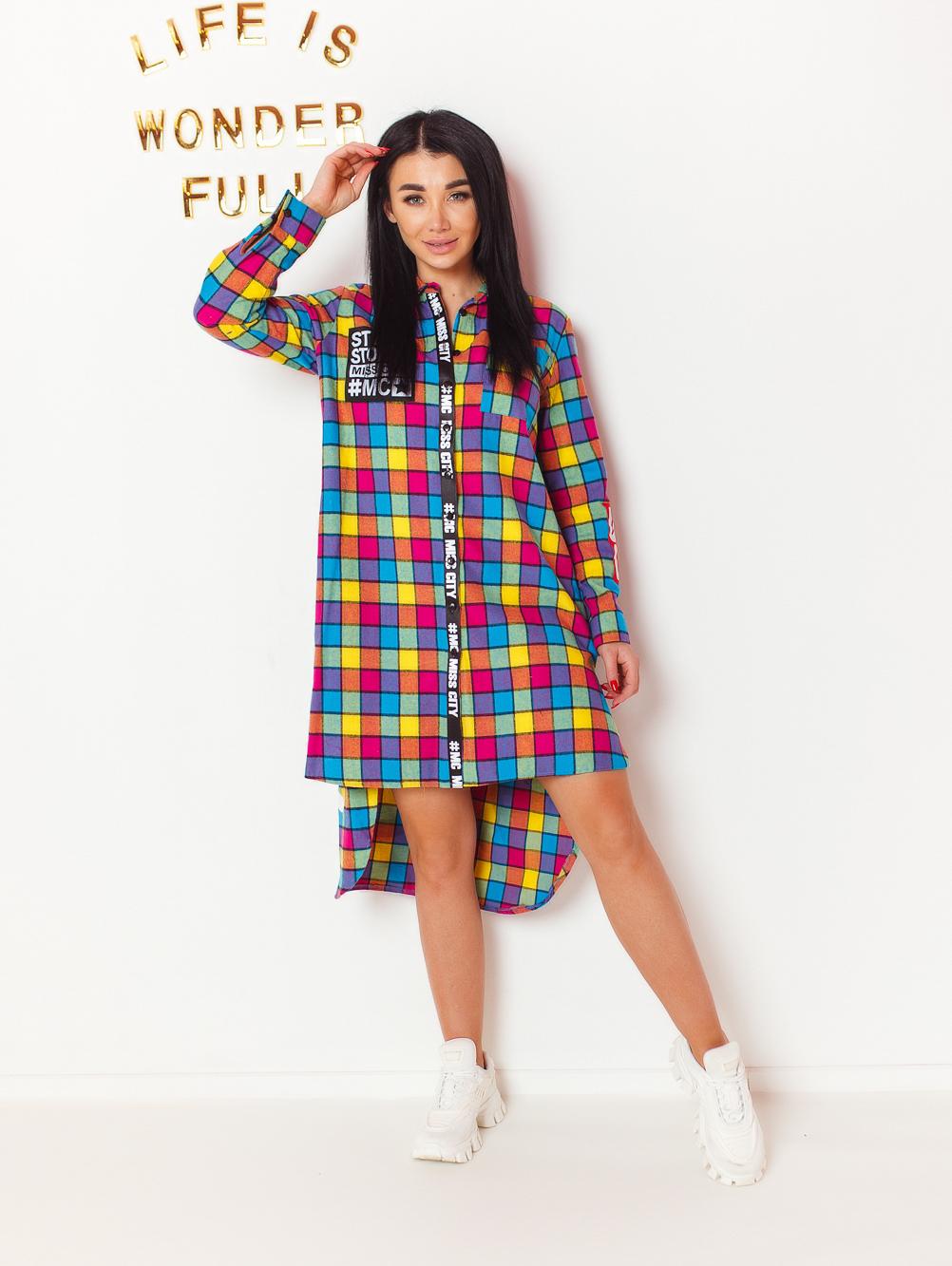 koszula-damska-multicolor-w-krate-z-napisem-sexy-back-#1 (3)