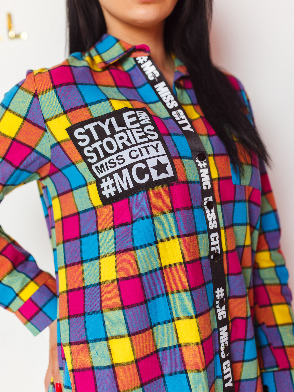koszula-damska-multicolor-w-krate-z-napisem-sexy-back-#1 (4)