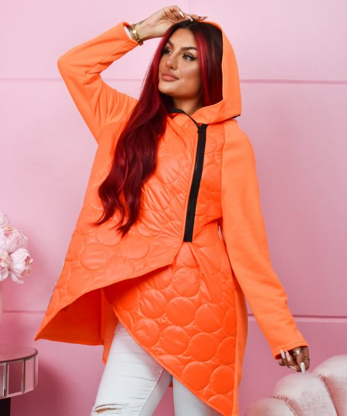 pomaranczowa neonowa-damska-bluza-pikowana-go-on (2)