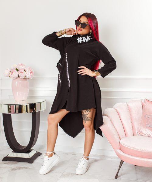 czarna-sukienka-damska-asymetryczna-z-suwakami-i-stojka (3)