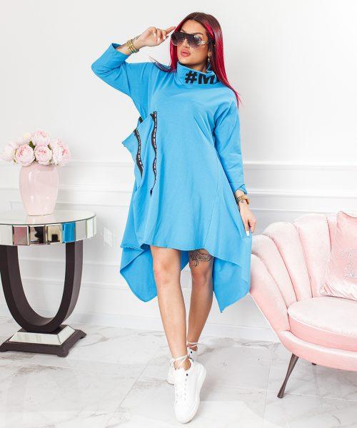 niebieska-sukienka-damska-asymetryczna-z-suwakami-i-stojka (3)