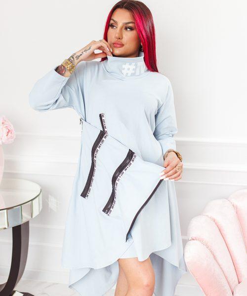 szara-sukienka-damska-asymetryczna-z-suwakami-i-stojka (4)