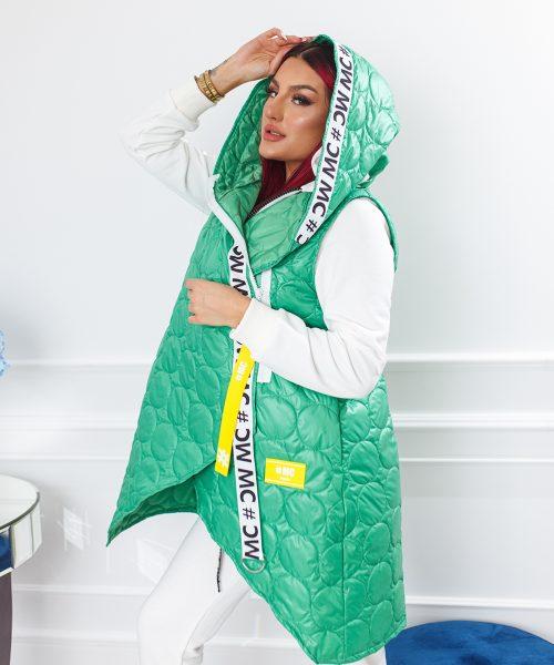 zielony-bezrekawnik-damski-pikowany (3)