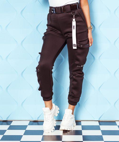 czarne-spodnie-damskie-piankowe-z-kieszeniami-i-paskiem (2)