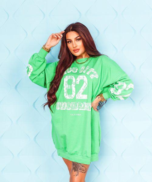 zielona-bluza-damska-dluga-z-napisami-z-przodu (4)