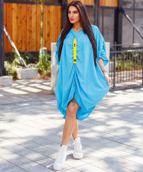 niebieska-bluza-damska-oversize-sciagana-z-przodu-i-na-rekawach-z-tylu-sito (7)