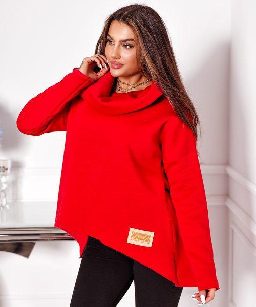 czerwona-bluza-damska-krotka-gladka-z-duzym-kolnierzem (2)