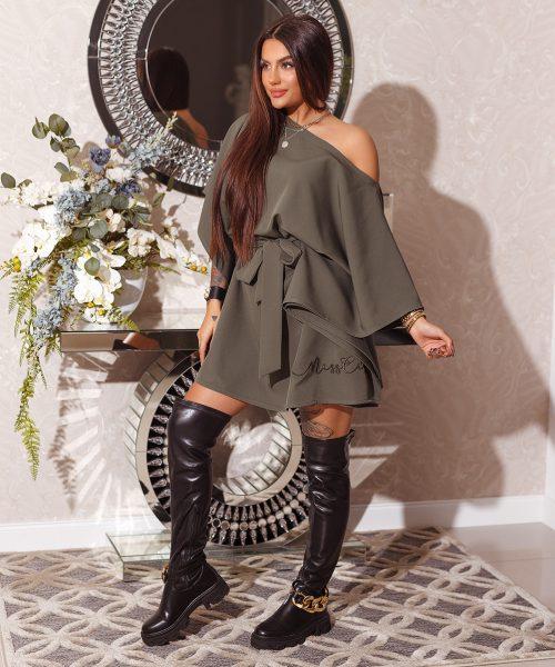 khaki-sukienka-damska-wiazana-z-pieknym-haftem-na-dole-miss-city (4)