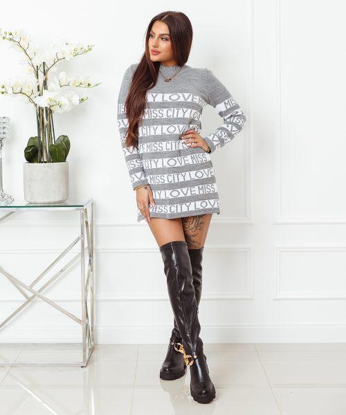 szary-sweter-damski-dlugi-z-paskami-i-napisami-love-miss-city (2)