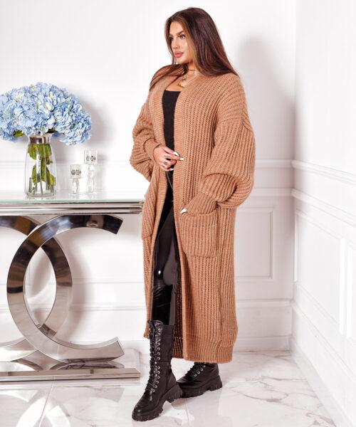 camelowy-sweter-damski-dlugi-z-kieszeniami (2)