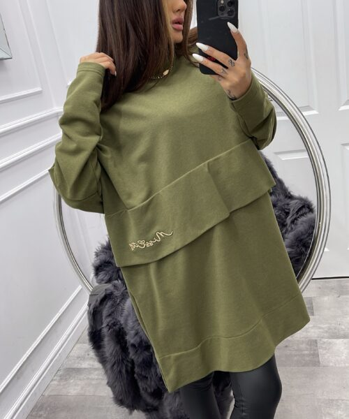 khaki-bluza-damska-oversize-podwojna-z-haftowanym-napisem (3)